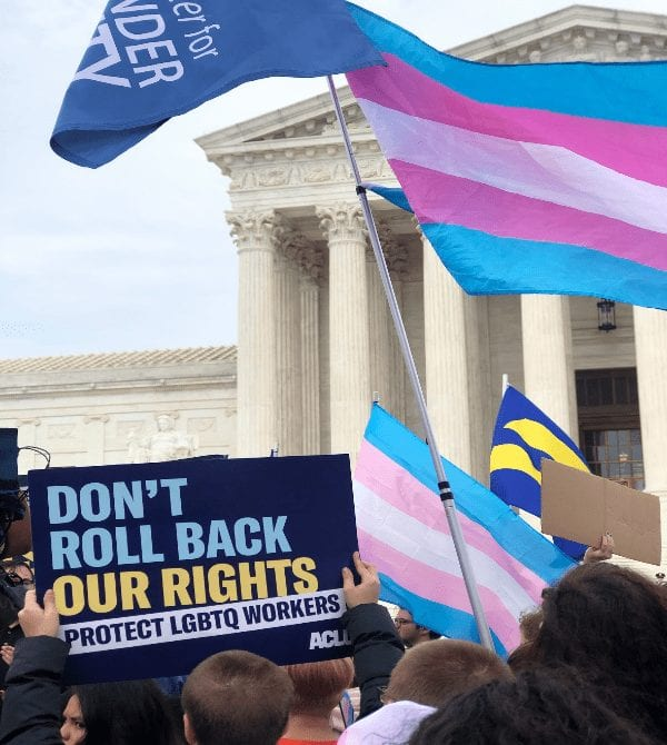 Activists Rally at Supreme Court as LGBTQ Work Discrimination Cases are Heard