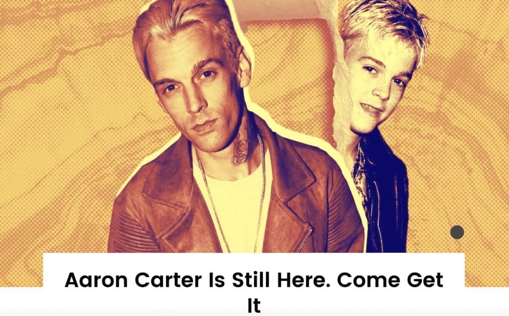 Case Study: Billboard Freelancer Wants to Change the Way You See Aaron Carter