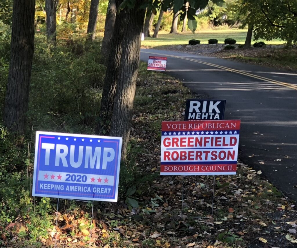 Yard-ageddon: Political Signs Paint N.J. Town Red, White and Blue