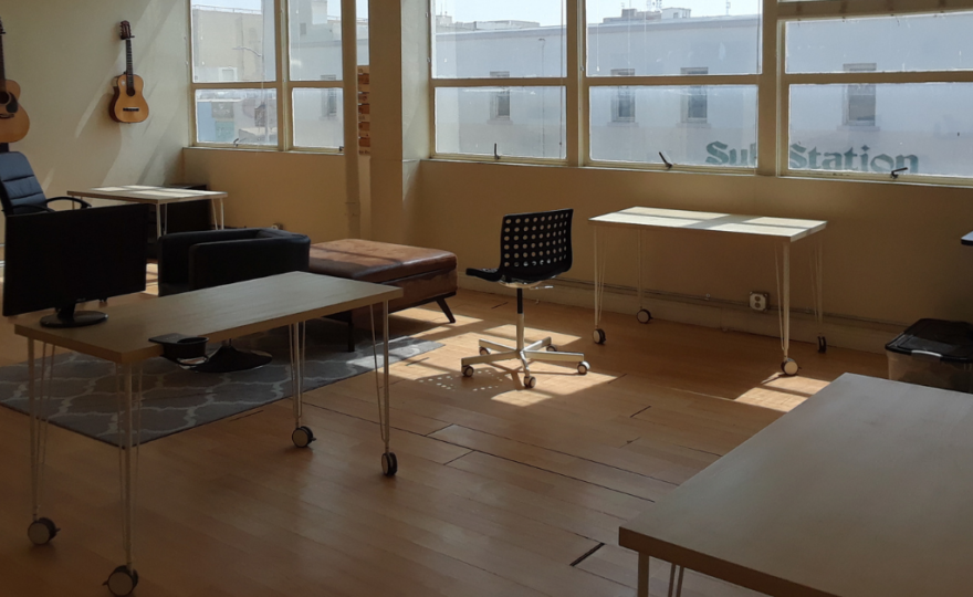 Mesh Cowork created a new floor plan to account for social distancing.
