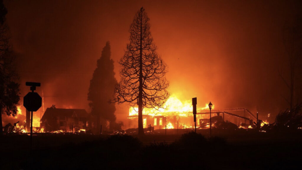 Fires destroying homes in Medford, Oregon.