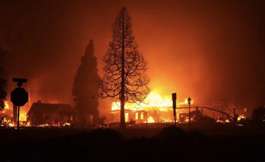 Fires destroying homes in Medford, Oregon.