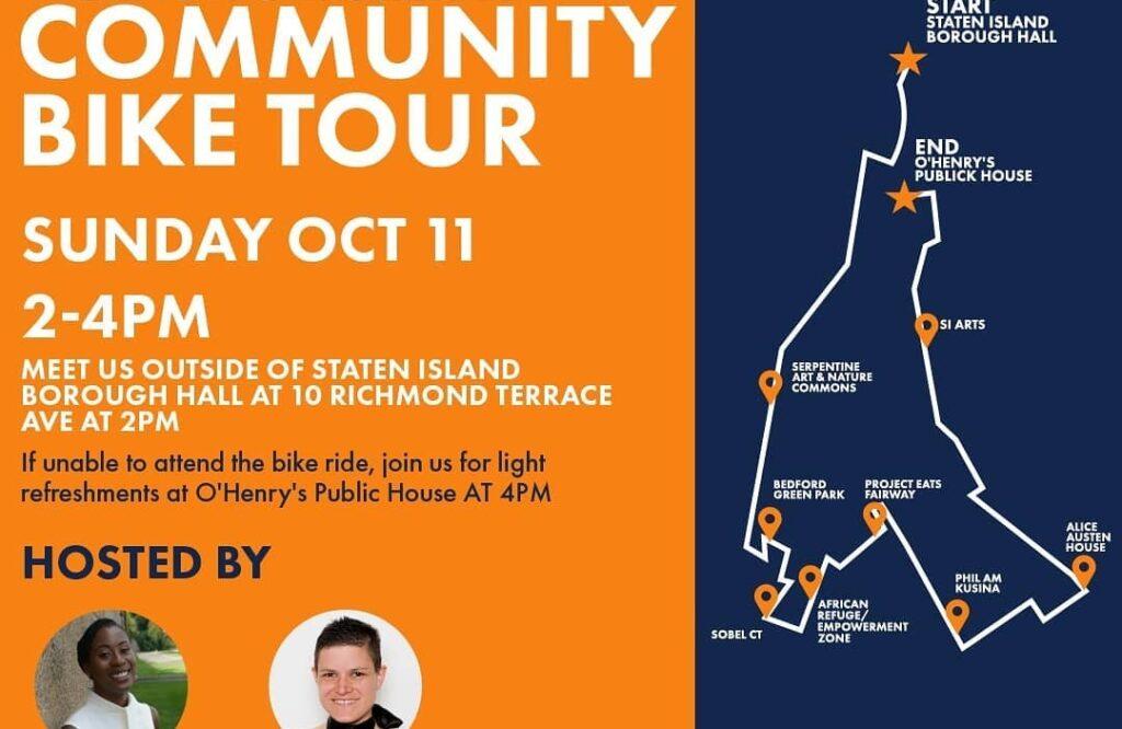 City Council Candidate Amoy Barnes Hosts Staten Island Community Bike Tour