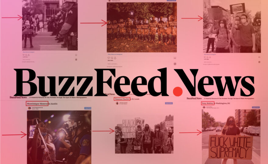 Collage of photos embedded by Buzzfeed News