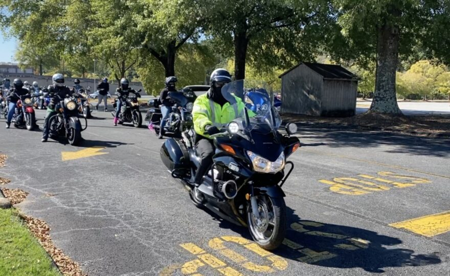 Women Bikers Roll to the Polls in Hopes of Electing Joe Biden