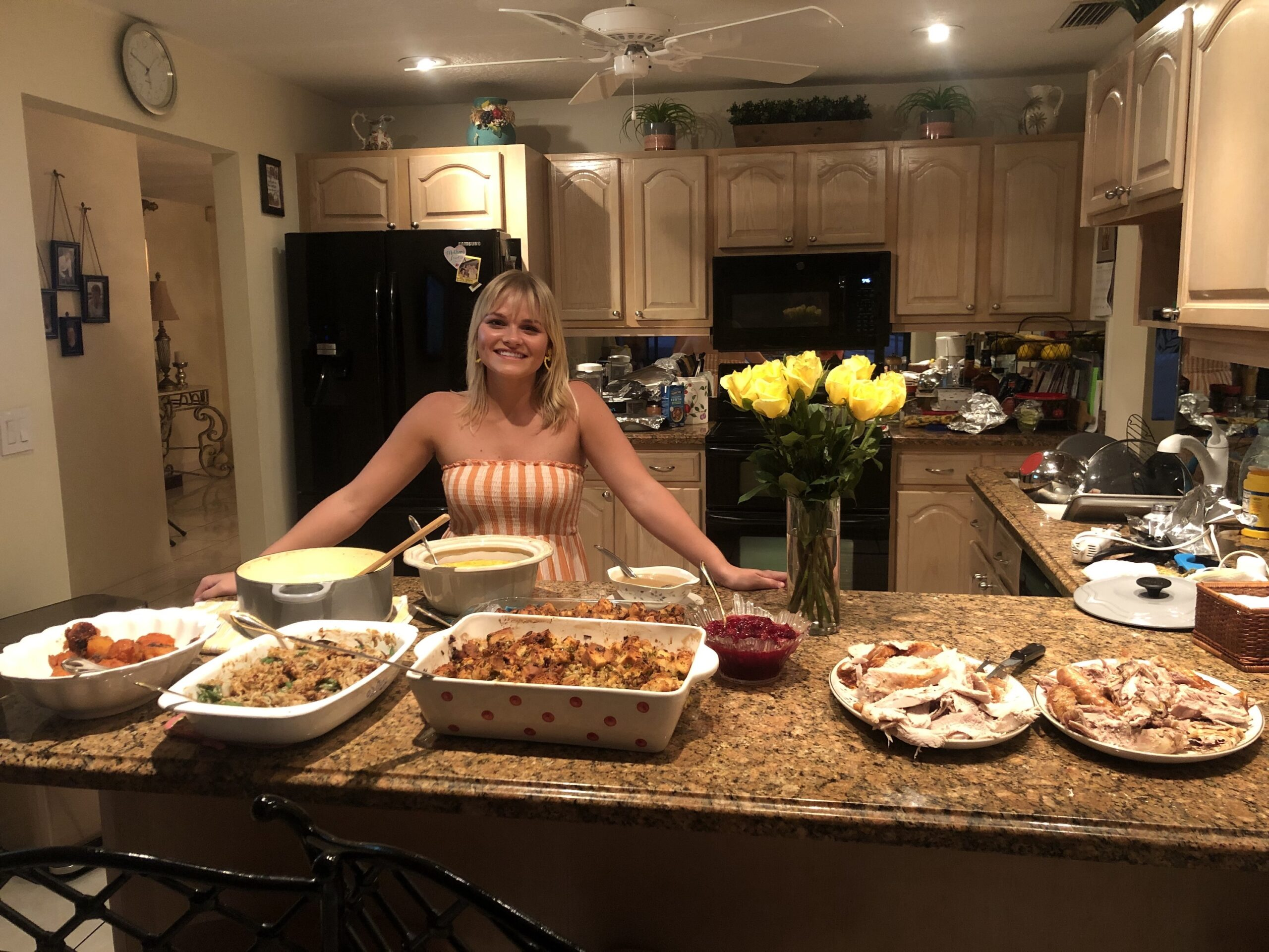 Michelle Mackey picked up cooking during the pandemic. This is the first Thanksgiving meal she has ever made. [Photo courtesy of Michelle Mackey]
