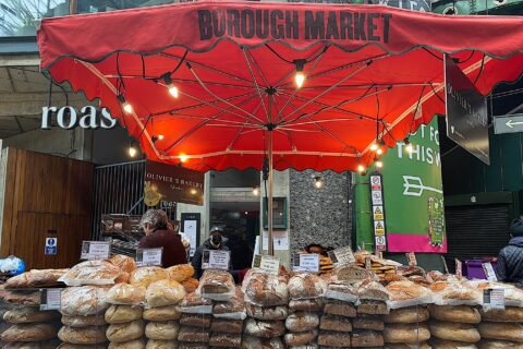 A French bakery stall in Borough Market