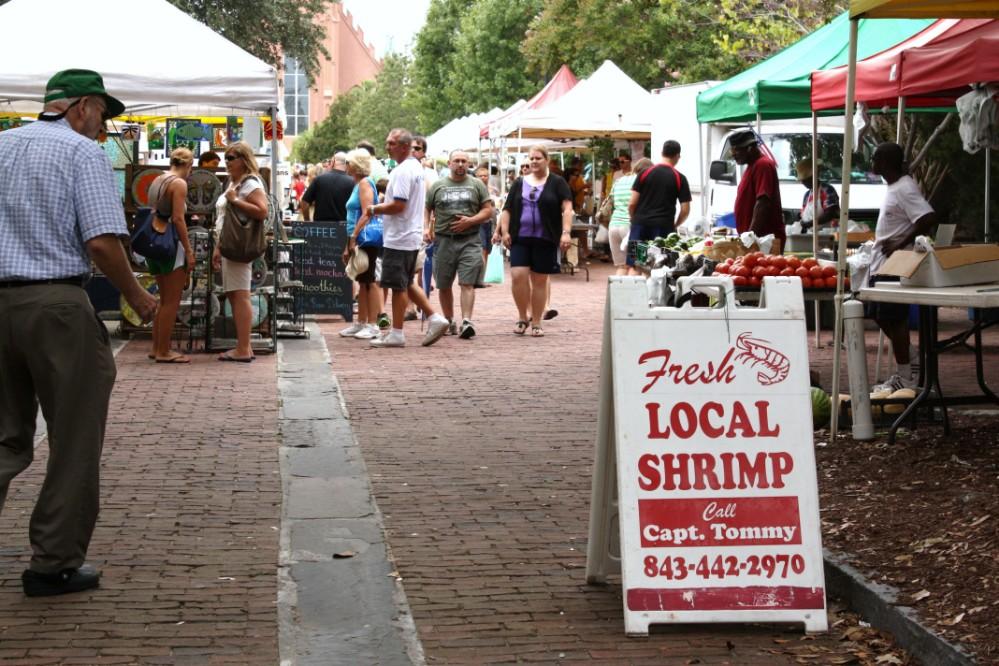 The farmers' market in Charleston, SC